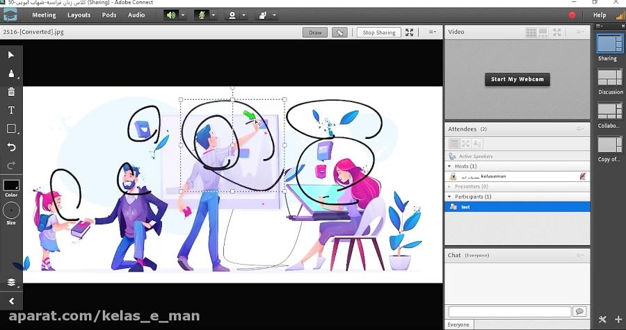 آموزش روش برگزاری کلاس انلاین در کلاس من با ادوبی کانکت  | Adobe connect